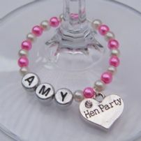 Personalised Wine Glass Charms - Full Bead Style